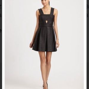 Robert Rodriguez Raffia Box Pleated Dress